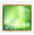 abstract spa or beach bamboo tropical frame with vector image vector image