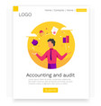 accounting and audit web design concept modern vector image vector image
