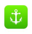 anchor icon digital green vector image