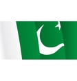 Background with waving Pakistani Flag vector image vector image