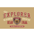 Bear trail outdoor adventure vector image vector image