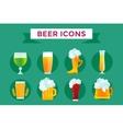Beer bottle sign icons set