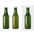 beer glass bottles realistic set vector image vector image