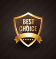 best choice golden label symbol design vector image vector image