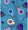 Bindweed flowers a seamless pattern vector image vector image