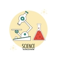 Biology design Science icon Flat vector image vector image