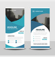 blue business roll up banner flat design vector image vector image