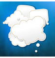 Blue Grunge Texture With Abstract Speech Bubbles vector image vector image