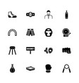boxing and fighting - flat icons vector image vector image