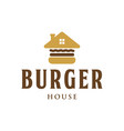 burger house vintage logo design inspiration vector image