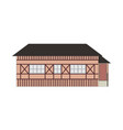 cartoon classic flat colorful building facade vector image vector image