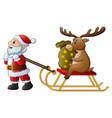 cartoon funny santa claus p vector image