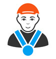 champion flat icon vector image