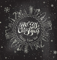 Christmas chalkboard background vector image vector image