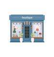 clothing store boutique shopstore facade exterior vector image