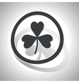 Clover sign sticker curved vector image vector image