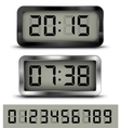 Digital clock t vector image vector image