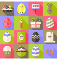 easter flat styled icon set 1 with long shadow vector image vector image