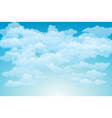 Editable of light clouds in a blue sky made using vector image vector image