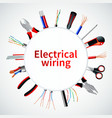 electric cables realistic frame vector image vector image