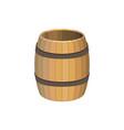 empty wooden barrel vector image vector image