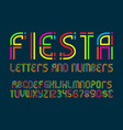 fiesta letters and numbers with currency signs vector image vector image