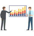 financial analyst team professional businessmen vector image vector image