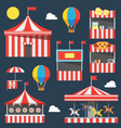 Flat design of carnival festival vector image vector image