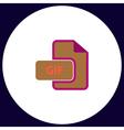 GIF computer symbol vector image vector image