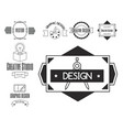graphic art design logo company identity vector image vector image