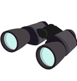 Grey binocular vector image vector image