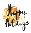 Happy Holidays Positive greeting phrase vector image vector image