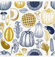 happy thanksgiving day seamless pattern hand vector image vector image