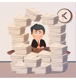 Hard working evening in office vector image vector image