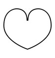 heart thin line icon love vector image vector image