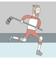 Hockey player man vector image vector image