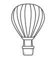 hot air balloons in black and white vector image