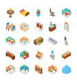 hotel isometric pack vector image