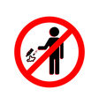 Keep clean icon Do not litter sign vector image vector image
