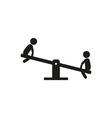 kids children play on seesaw playground vector image