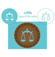 libra signs of the zodiac laser cutting can be vector image vector image