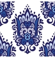 Luxury Damask seamless pattern blue background vector image vector image