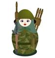 Matryoshka with a antitank grenade launcher vector image vector image
