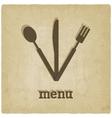 menu old background vector image