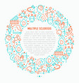 multiple sclerosis concept in circle vector image vector image