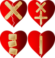 patched heart vector image
