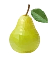 polygonal pear vector image vector image