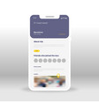 purple travel ui ux gui screen for mobile apps vector image vector image