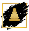pyramid sign golden icon at vector image