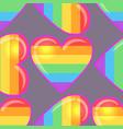 rainbow hearts gay pride flag colored colored vector image vector image
